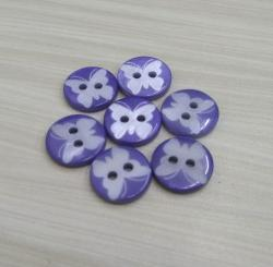 Purple Butterfly Laser River Buttons