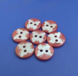 Animal Pattern Laser Design River Shell Buttons