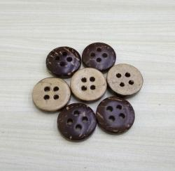 11.5mm 18L Four Holes Brown Natural Coconut Buttons