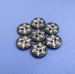 18L 11.5MM Snowflake Laser River Buttons