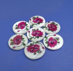 15mm Colorful Flower River Buttons