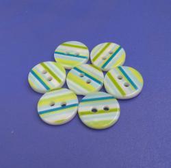 Stripes Printing Shirt Buttons