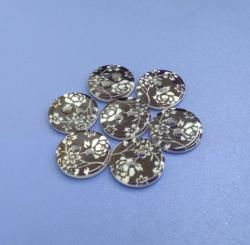 Printed River Natural Shirt Buttons 3mm Thick