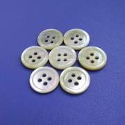4 Holes Flat back Agoya Shell Buttons with Slim Rim
