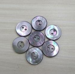 Smoke Grey Mother Of Pearl Buttons with Rim