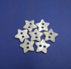 Natural White Star Shape Chinese River Buttons