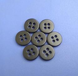 16L 10mm Matt Black Painted River Shell Button