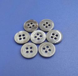 Standard Gray Colored Ocean Shell Button Polo Shirt