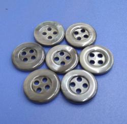 Grey Dyed River Button with Rim for Shirt Maker