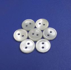 Two Holes Round Flatback Shiny Rim Trochus Seashell Button