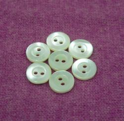 Glossy 2Holes Natural White Trocas Button With Big Edge