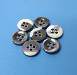 Smoky Four Holes Bowl Style Men's Shirt Button