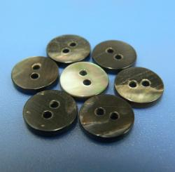 Two Holes Natural Black MOP Buttons