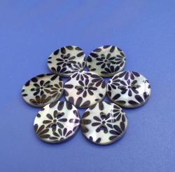 Printed Akoya Natural Buttons 2mm Thick