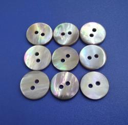 Flat Type Coffee Mother of Pearl Sewing Button for Suit