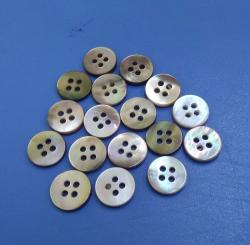 Four Holes Flatback Round Brown Mother of Pearl Sewing Shirt Buttons