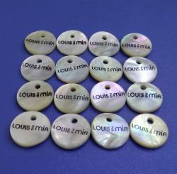 Custom LOGO Printed Design Japan Quality Agoya (Akoya) Shell Button