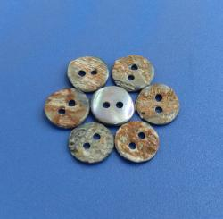 Natural Grey Smoke Color Abalone Shell Button