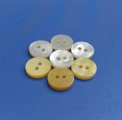 One Side Polished White Bulk Natural Mother of Pearl French Button
