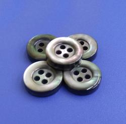 High End 4Holes Bowl Shape Black Mother of Pearl Buttons for Tailor