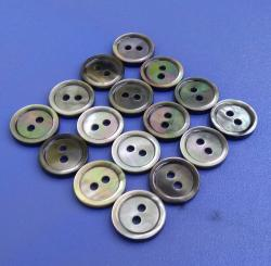 Novelty Rim Design Black MOP Buttons for Suit, Shirt Tailor