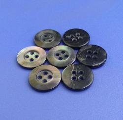 Large Size 4Holes Natural Black MOP Buttons for Coat, Jacket, Blouse