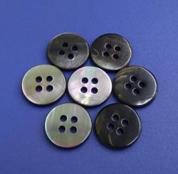 Flat type 4Holes Genuine Black Round MOP Pearl Sewing Shirt Buttons