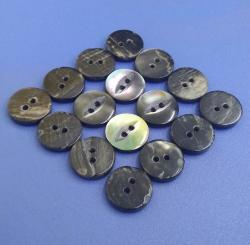 Fancy Fisheye Shape Black MOP Pearl Buttons for Fashion Clothes