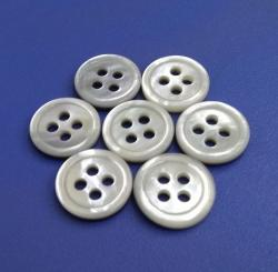 Fantastic Round White MOP Oyster Pearl Buttons with Rim for High End Shirt