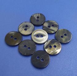 Novelty 2 Holes Fisheye Shape Black MOP Buttons