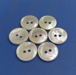 2Holes Natural Polished White Mother of Pearl Bespoke Shirt Button