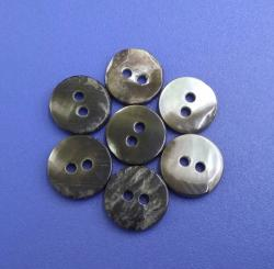 Flatback Natural Black Mother of Pearl Clothing Buttons