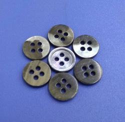 Customized Grey Silver Coloured MOP Shirt Shell Buttons