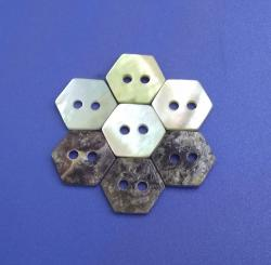 Stylish Pentagon Polished Japan Akoya Shell Decorative Button