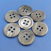 Smoke Grey Dyed Natural River Shell Pearl Buttons for Men's Suit, Jacket