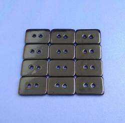 Black Coated Rectangular Shape Buttons Made with Shell Raw Material