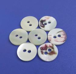 Super White Natural Trocas Shell Buttons with Original Skin