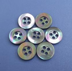Wholesale Four Holes Coloured Trocas Shell Buttons with Rainbow Effect