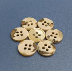 Four Holes Vintage Trocas Shell Pearl Buttons with Original Skin Shell Material