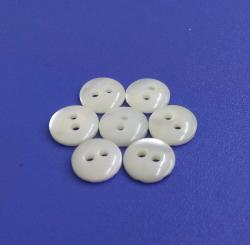 Fancy 3mm ThicknessTwo Holes White Trocas Shell Sewing Shirt Buttons