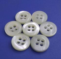 Bowl Shape 5mm Thickness 4Holes Trocas MOP Pearl Shirt Buttons