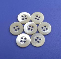 Ivory White Four Holes Vintage Trochus Shell Buttons for Coat, Jacket