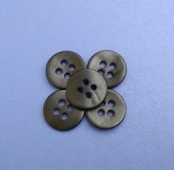 Matt Black Coated 4Holes Japanese Agoya Shell Buttons Garment Accessories