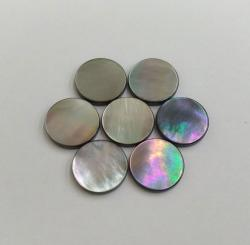 Rainbow Effect Black Color Round Mother of Pearl Nacre Shank Buttons