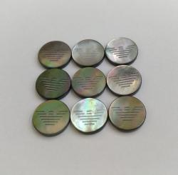 Adidas Custom Laser Pattern Design Shank Buttons Made with Black Nacre Buttons