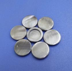 Grey Colored Blank Shank Buttons Made with China River Shell Material