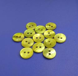 Lemon Yellow Coloured Japan Quality Agoya MOP Shell Buttons
