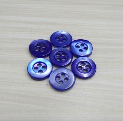 Blue Dyed Four Holes Natural Trocas Shell Buttons for Men's luxury Shirt Brand