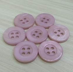 Various Sizes Custom Pink Dyeable River Shell Buttons For Women's Dress Shirt
