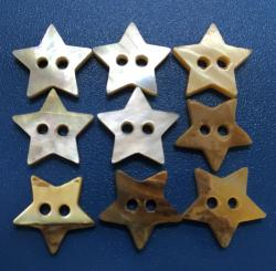 Superior Quality Star Shape Mother of Pearl MOP Buttons
